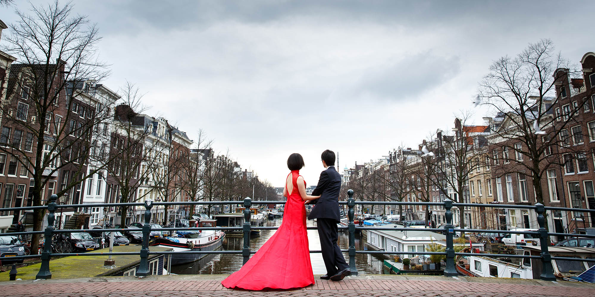 Chinese engagement shoot in Amsterdam
