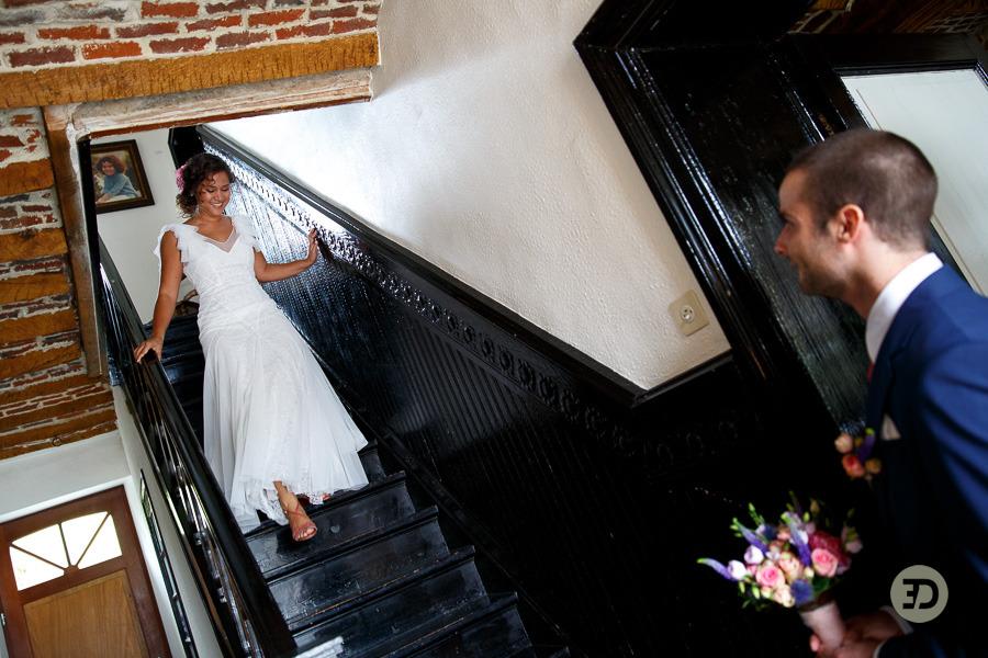 Ellen en Wim Leuven Belgie bruiloft Evert Doorn 09