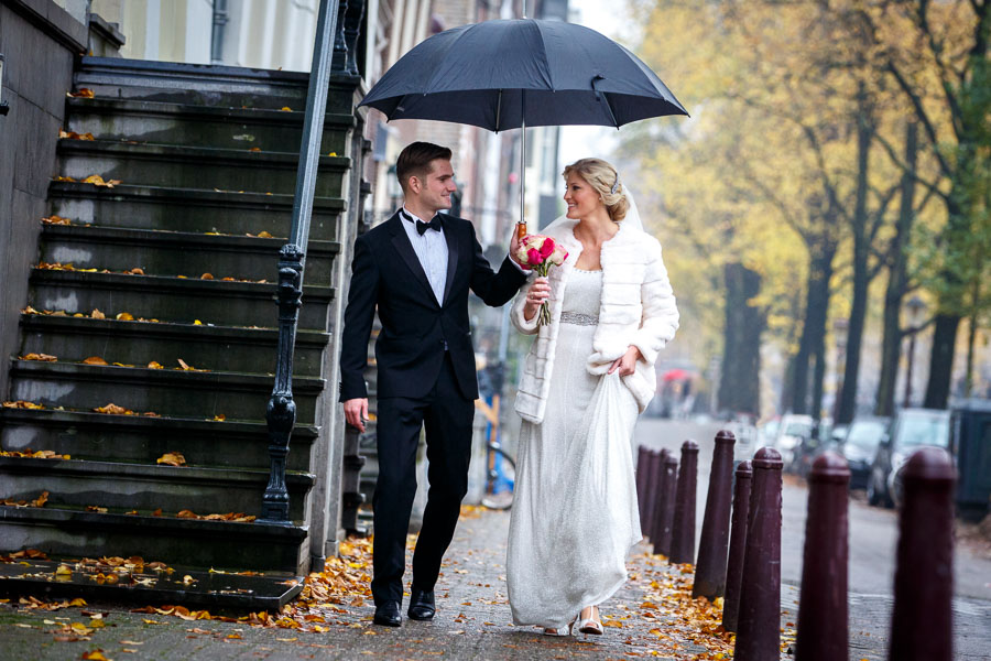 Amsterdam international fall wedding Posthoornkerk Westerliefde by Dutch wedding photographer Evert Doorn 08