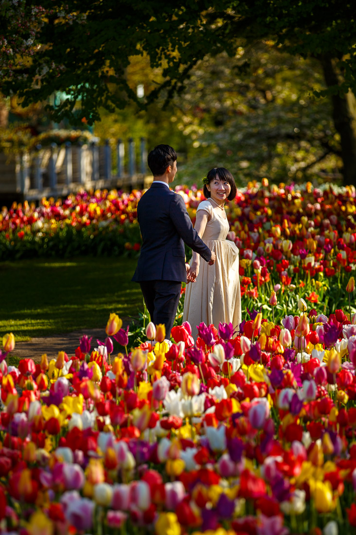 engagement shoot Amsterdam Tulips Keukenhof Wedding photographer netherlands Evert Doorn-12