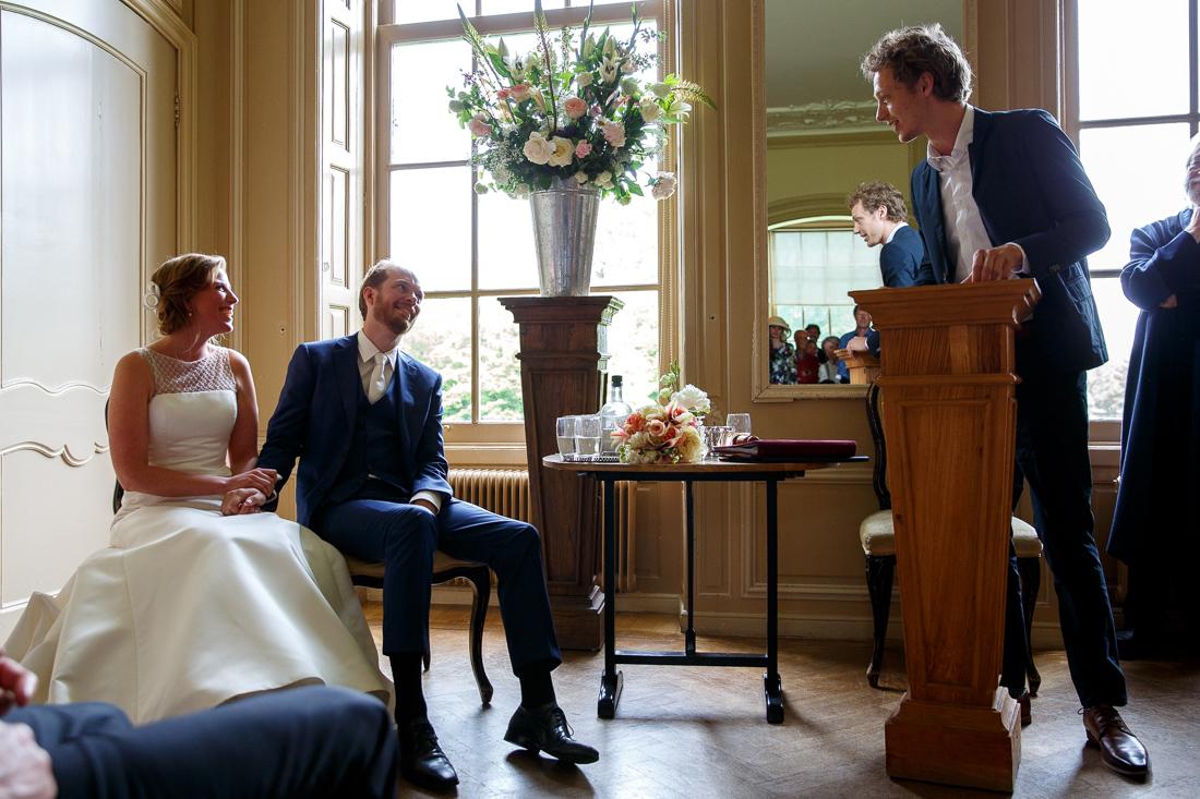 wedding at Landgoed Waterland the Netherlands by wedding photographer Evert Doorn 12